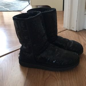 Authentic sequin UGG boots!